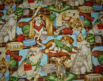 Per yard, Puppy Patch fabric