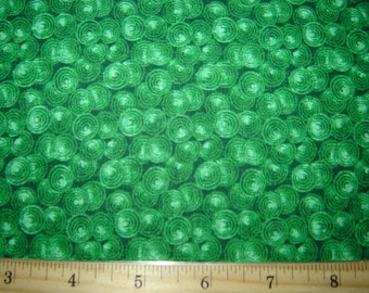Per yard, Green spin dot quilting fabric collection (5)
