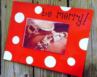 Picture Frame Christmas Wooden Sign
