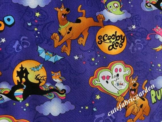 Cotton Fabric - 2Meter Animal Fabric - Scooby Doo - Halloween ...