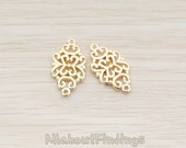 CNT031-G // Glossy Gold Plated Gothic Celtic Design Connector, 2 Pc