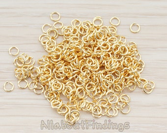 BSC105-G // Glossy Gold Plated Jumpring, Approx 23 gauge, 300 Pc