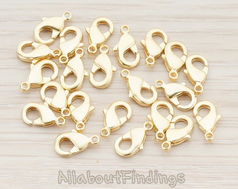 BSC150-MG // Matte Gold Plated Lobster Clasp, 10 Pc