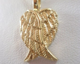 14k gold filled Angel Wings Feathers pendant