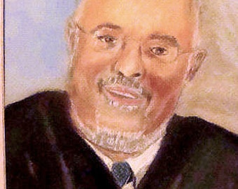JUDGE in Florida ORIGINAL Pastels Painting Unframed Double Mat ** Painted from Photograph **