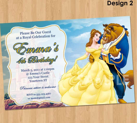 Beauty and the beast dancing birthday party printable invitations princess belle invitation make their birthday special with this unique birthday party invitation featuring princess belle from beauty and the beast filmwisefo