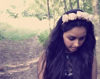 Sale!!! Chloe Pale Pink Rose Headband Flower Crown