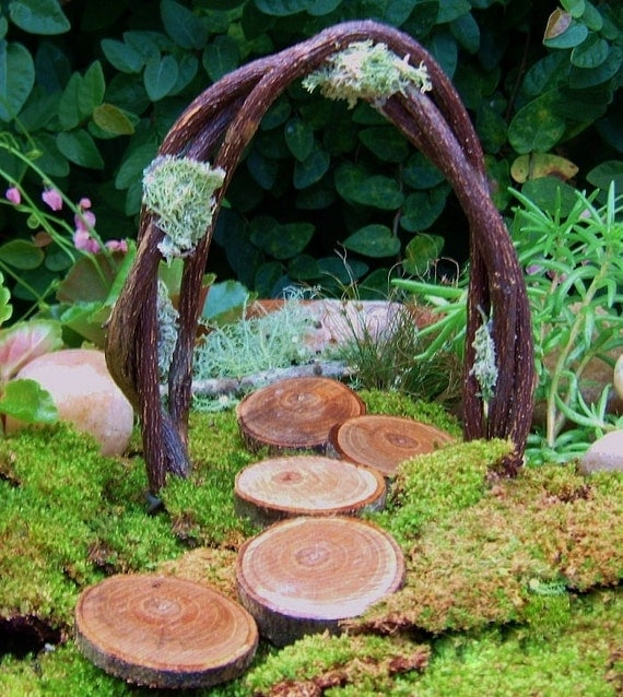 Fairy Garden Arch And Stepping Stones Miniature Garden Arch