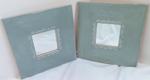 Pair of ikea framed mirror shabby chic by treasuresbymarylou