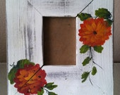 Vintage Shabby Chic Floral Wood Frame Home Decor - 4evrVintage