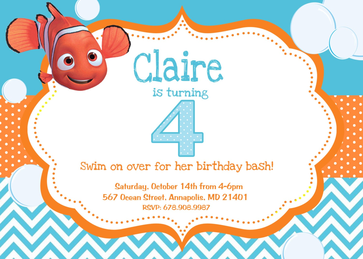 finding nemo baby shower invitations finding nemo birthday party