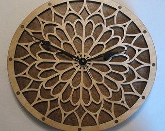Notre Dame wooden wall clock