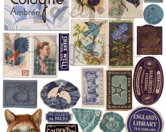 Blue Stuff Number 2 Digital Download Collage Sheet