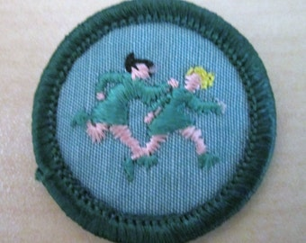 "Super Sale on Vintage Junior Girl Scout Badges circa 1960's ""Worldwide Games"""