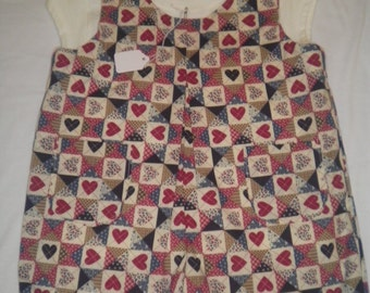 Size 3T Girl's or Boys Hearts Shorts Romper with T-shirt