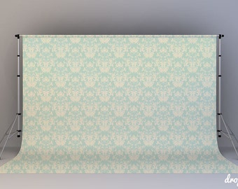 Vintage Teal Damask - Photography Backdrop