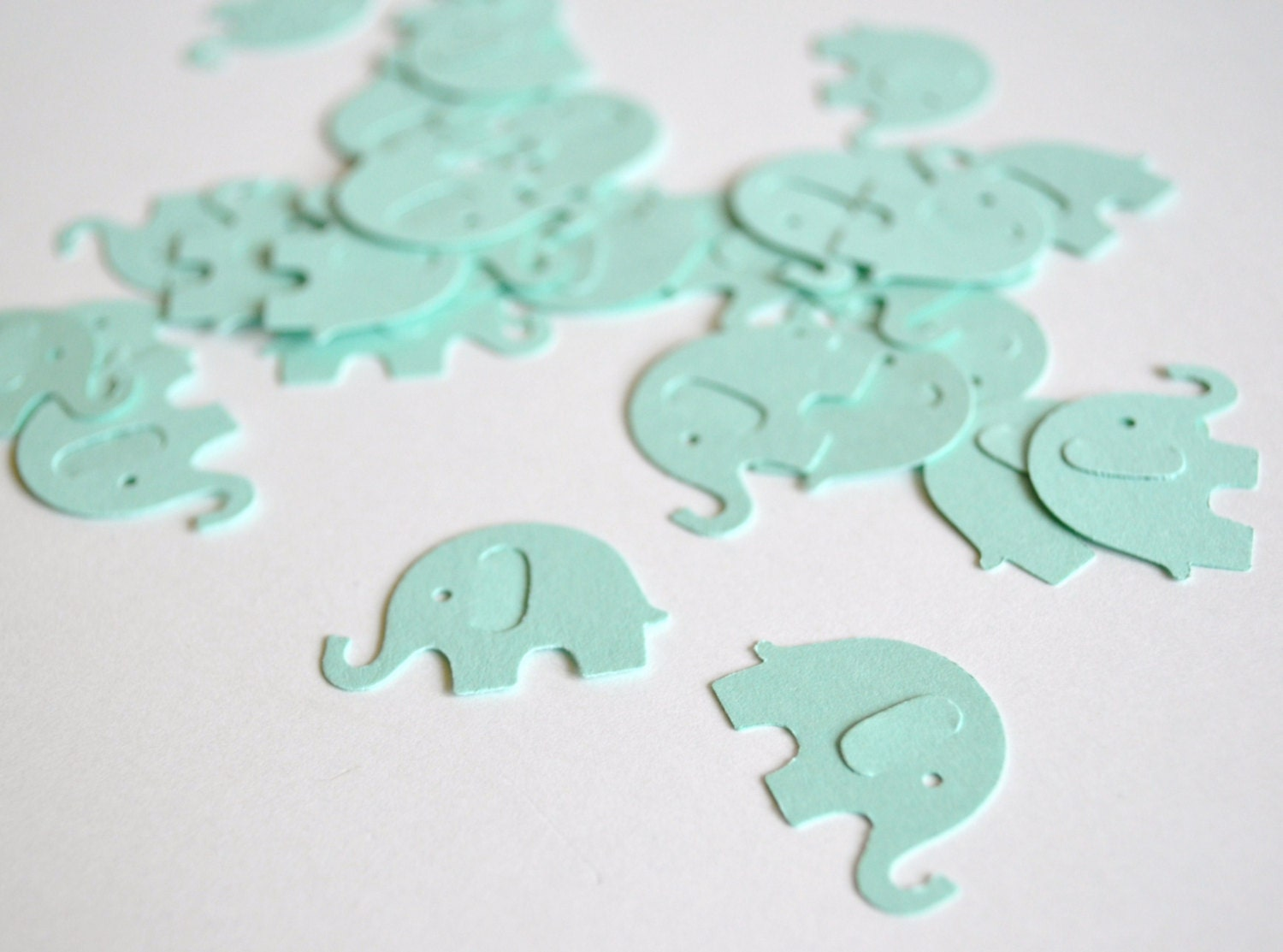 mint baby elephant confetti baby shower by littlemerriments