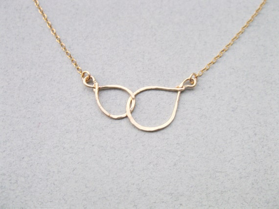 Mother Daughter necklace Infinity necklace Circle by ...