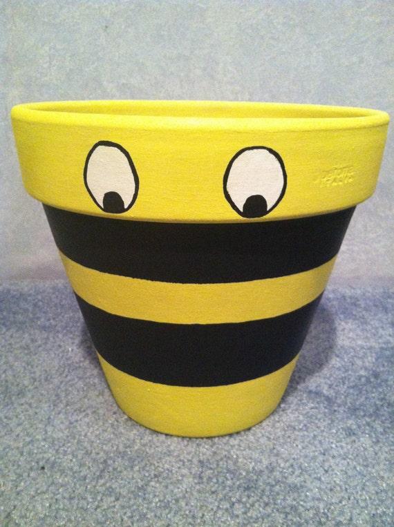 Items Similar To Hand Painted Pot Flower Pot Clay Pot