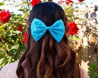Blue Lace Bow