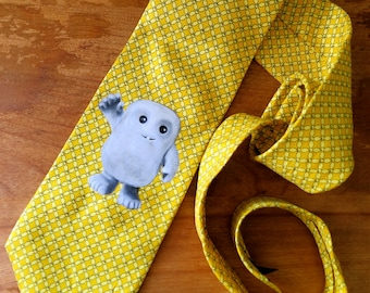 Dr. Who Adipose Hand Painted Tie