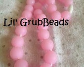 Lil' GrubBeads (Light Pink)  - a Trendy, Chic Necklace for teething toddlers