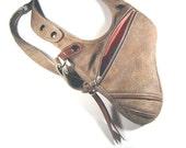 """Revolverbag shoulder holster leather holster bag women vacation bag black """"Tiara"""""""