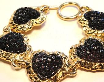Black Heart Bracelet