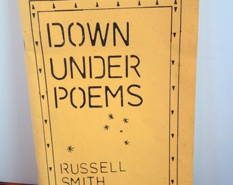Down Under Poems by Russell Smith Ashman, 1986, Dedication in author's handwriting, published at Harrisburg, Pa.