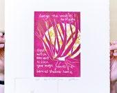 burn us shadow home, a new linocut poem for Assata
