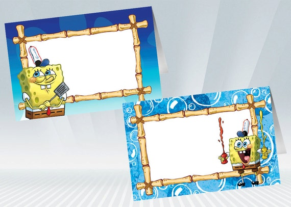Like this item?  sc 1 st  Etsy & SpongeBob Food Tent / Food Label