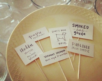 Cheese/Charcuterie Labels