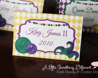 Mardi Gras Themed Place/Tent Cards