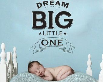 XL Dream Big Little One vinyl wall decal sticker baby nursery childs room