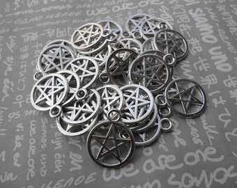 50pcs Antique silver Metal Charms-Pentagram charms pendant 24X20mm--CP347