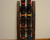 Wine rack - Upcycled wine rack - Reclaimed wood wine rack - Rustic wine rack - Reclaimed redwood wine rack - ReclaimedRedwood