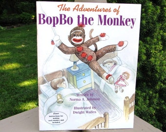 Sock Monkey Book The Adventures of BopBo the Monkey Children's Book
