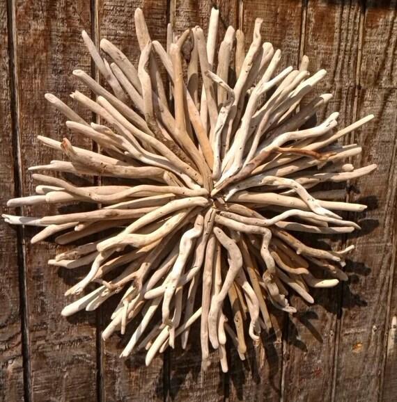 Outdoor Wall Sconce Half Sun And Details Rustic Light: Ocean Tide CelestialSunWood Sculpture Driftwood ArtHome