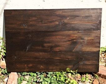 Unfinished wood pallet