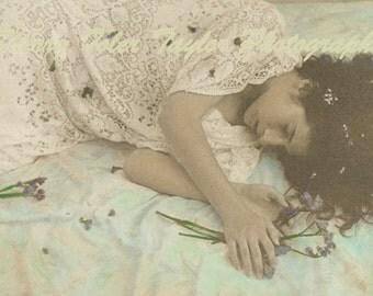 "Fine Art Photography - ""Sleeping Beauty""  Portrait Photography,Fashion Photography,Figure Photography,Muse,Lace,9x12,11x14"
