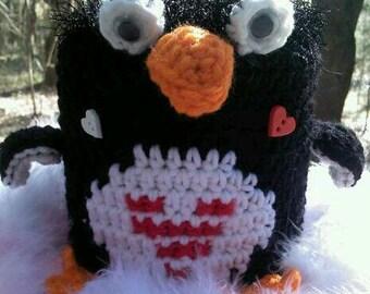 penguin,crochet,bathroom,toilet paper cover,wild animal,whimsical