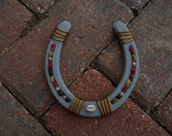 Custom horseshoe with mane or tail hair by hoofspirit on etsy for Bulk horseshoes for crafts
