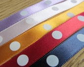 """3/8"""" Satin Ribbon. 5 YARDS. Purple. Pink. Orange. Red. Blue.  Low Shipping Cost.  Fast Shipping."""
