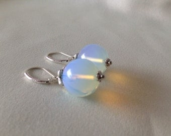Opalite (E025) ladies earrings, stone earrings, natural stone jewelry