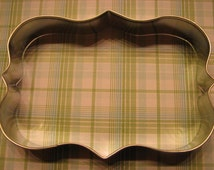 """Large Plaque / Sign 5"""" Metal Cookie Cutter - Personalize with your message"""