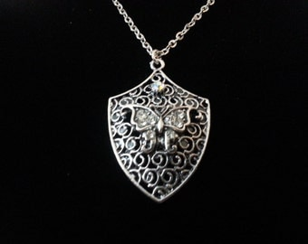 Butterfly Elf Shield Necklace