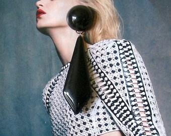 Mod style vintage earrings (RR15)