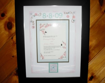 Custom Wedding Framed Invitation