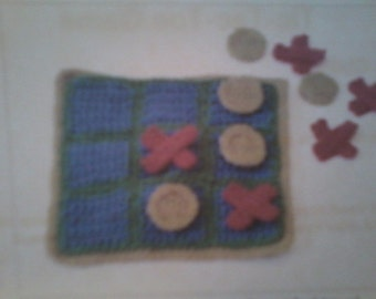 On sale now!!!!!Crocheted tic tac toe game