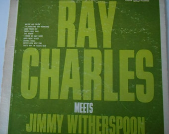 Ray Charles- Meets Jimmy Witherspoon- vinyl record